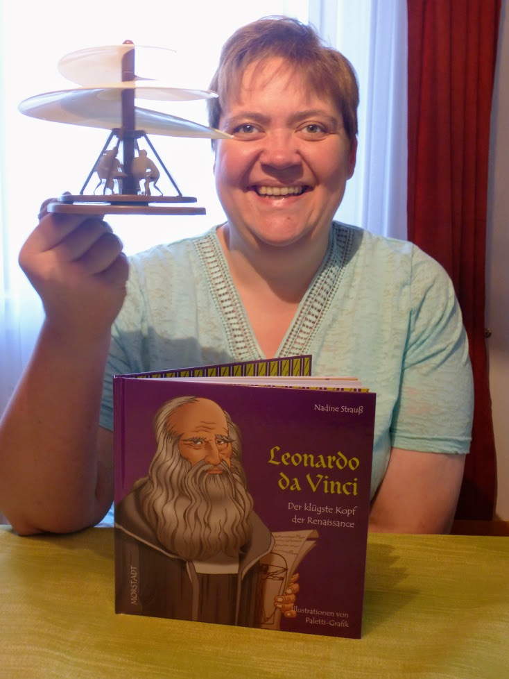 Nadine Strauß schreibt ihr viertes KinderMitmachbuch über das Universalgenie Leonardo da Vinci